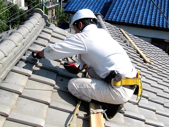 屋根工事の一人親方