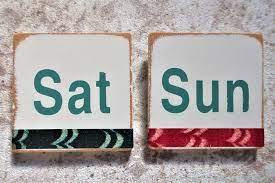 土曜日日曜日